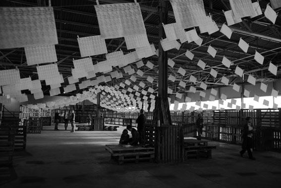 Takahiro Suzuki: Ikiro, 2008, installation shot,Southern Fruit Warehouse; image held here